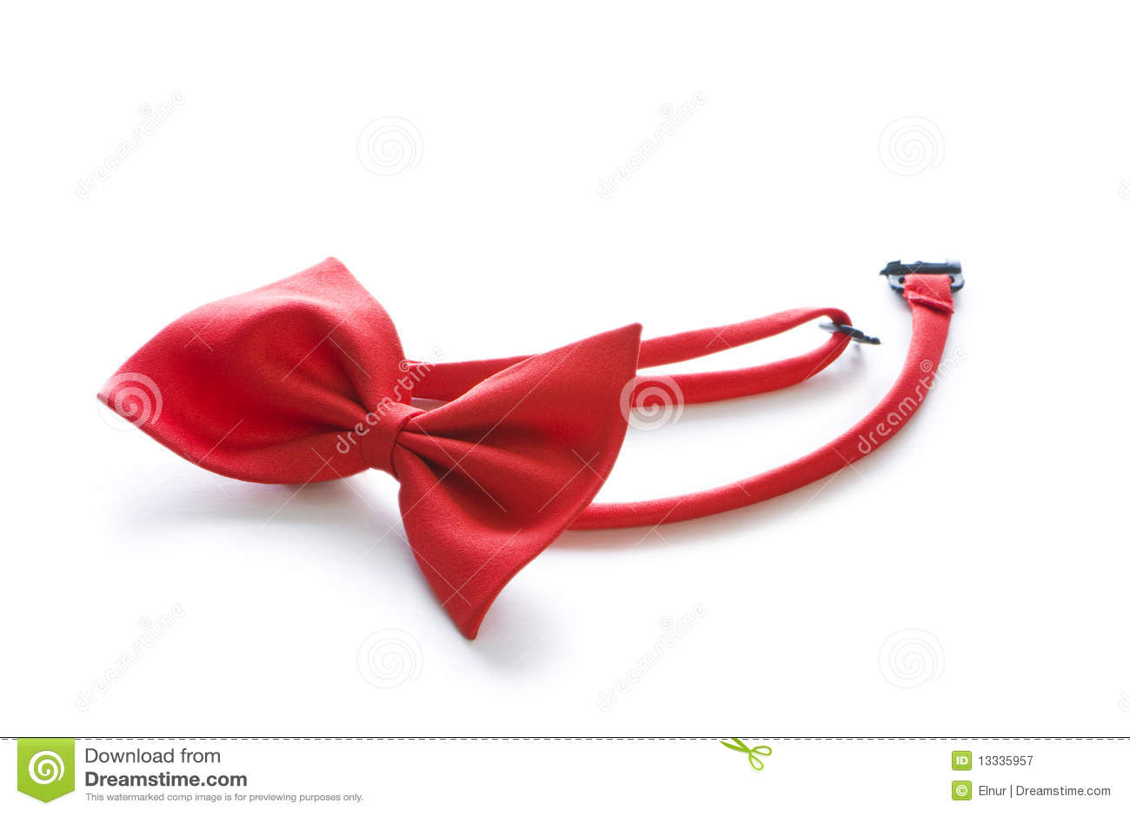 łęk odizolowywający czerwony krawat