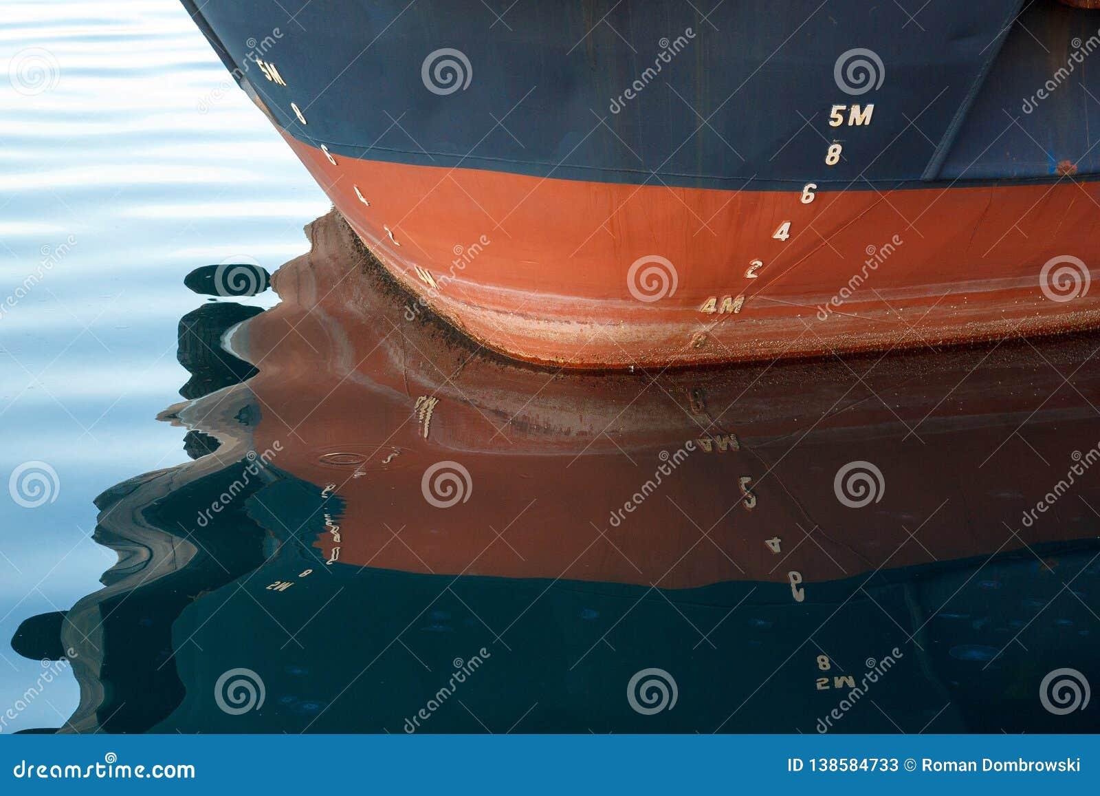 Łęk statek z szkic skala numerowaniem