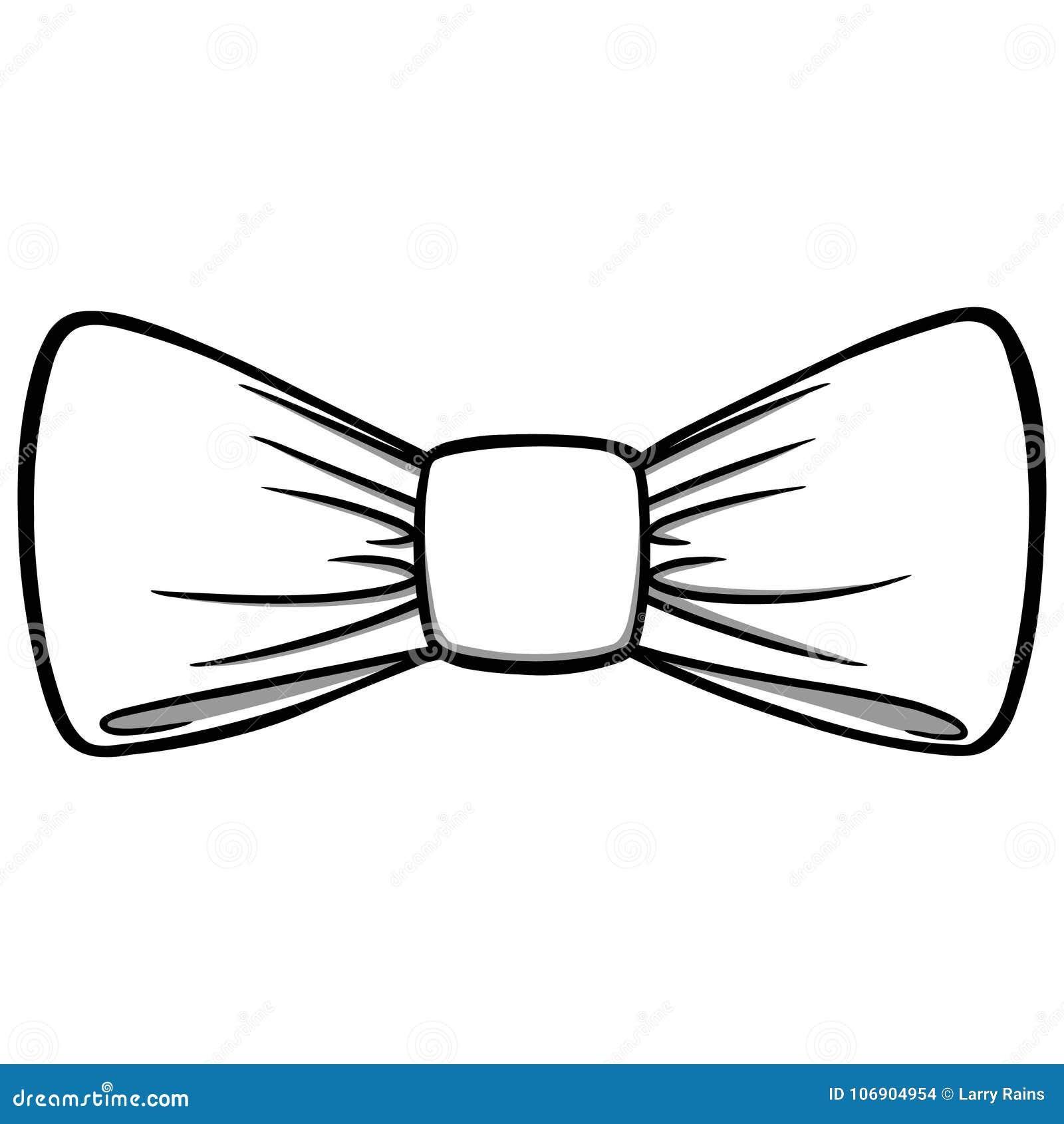Łęku krawata ilustracja