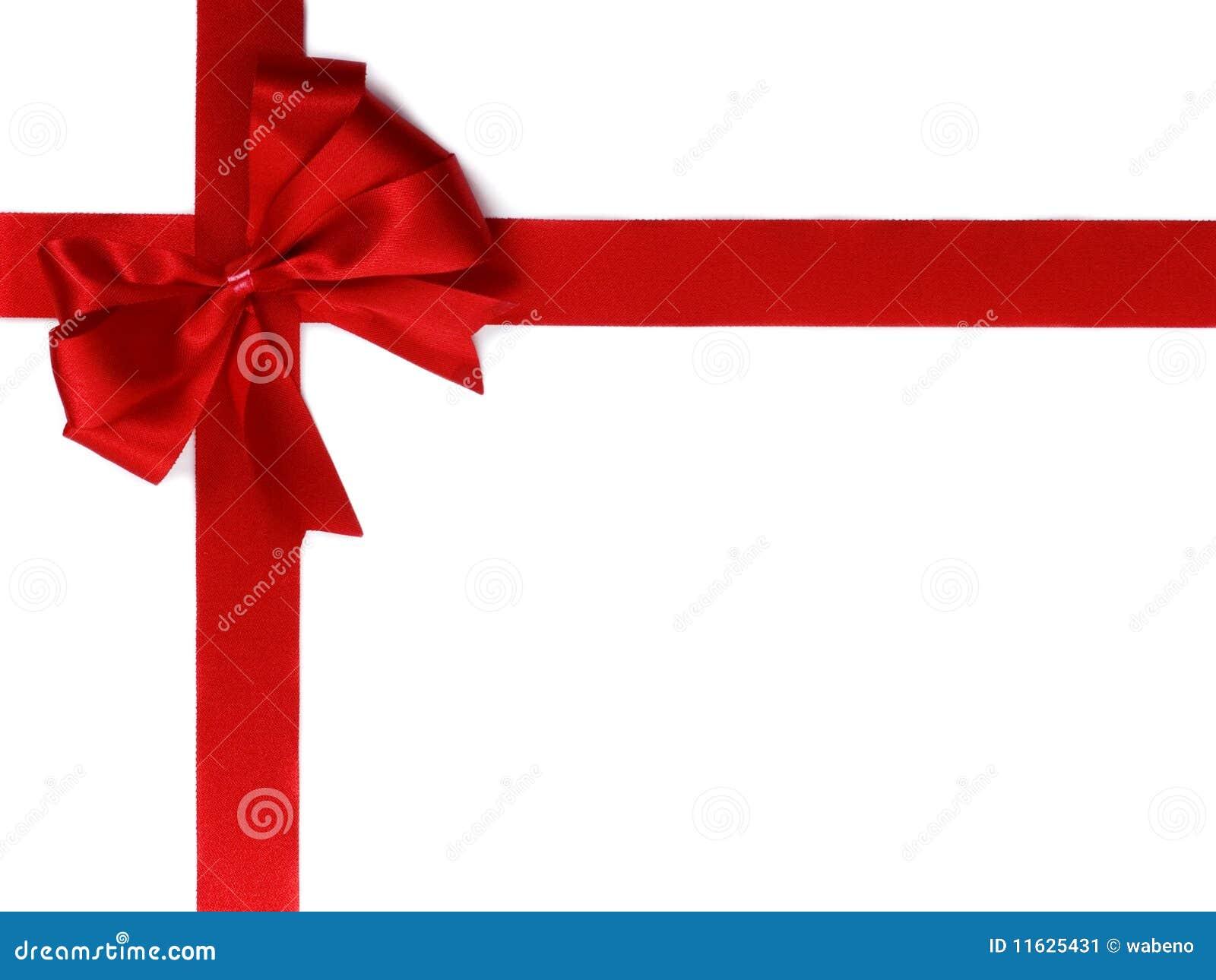 łęku prezenta czerwieni faborek