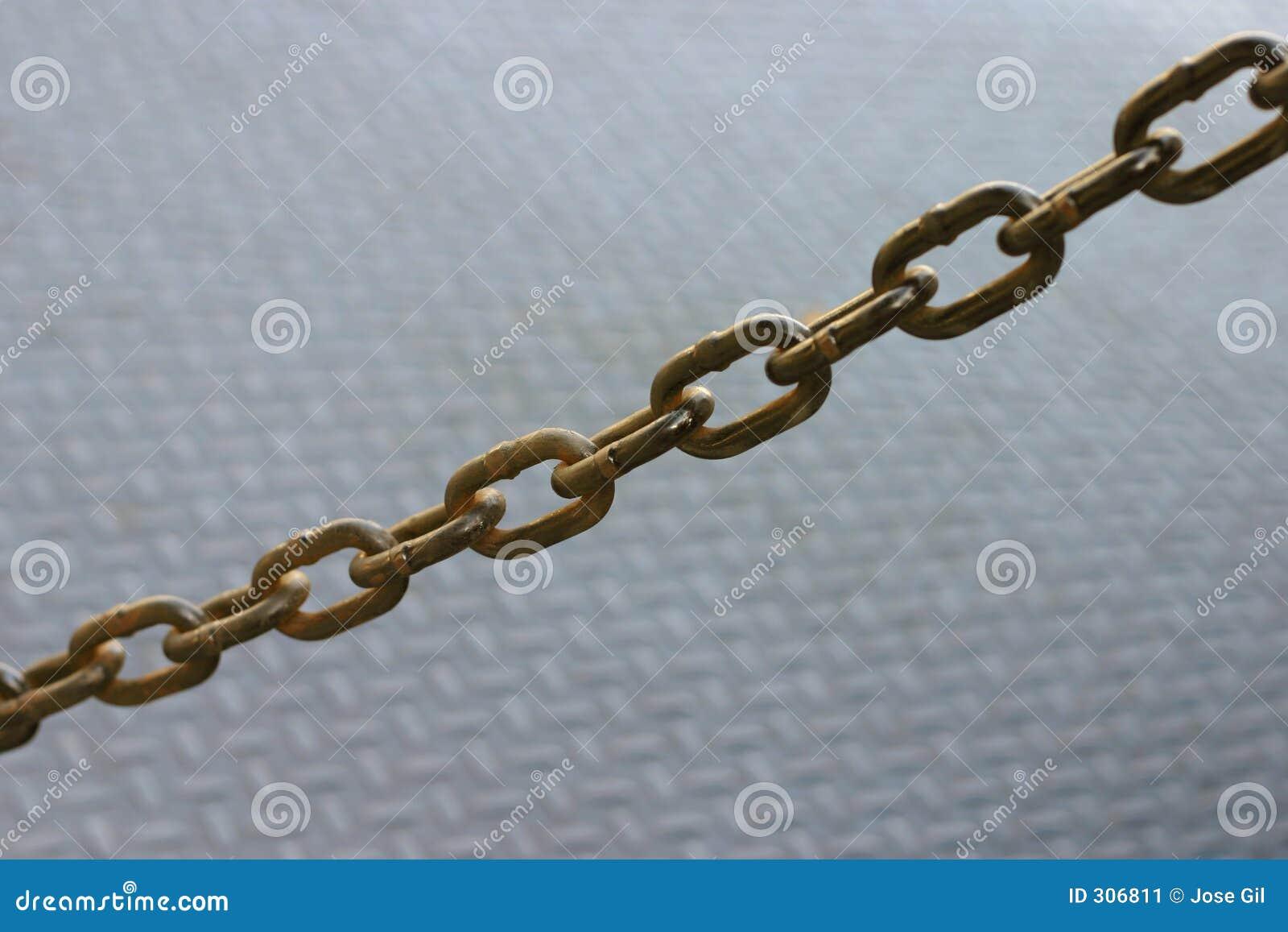 łańcuch rdzewiejący
