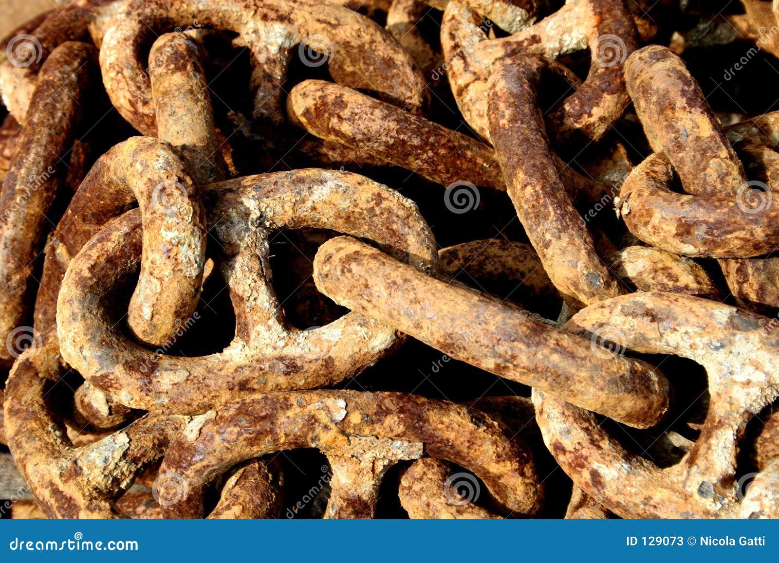 łańcuchy rdzewiejący