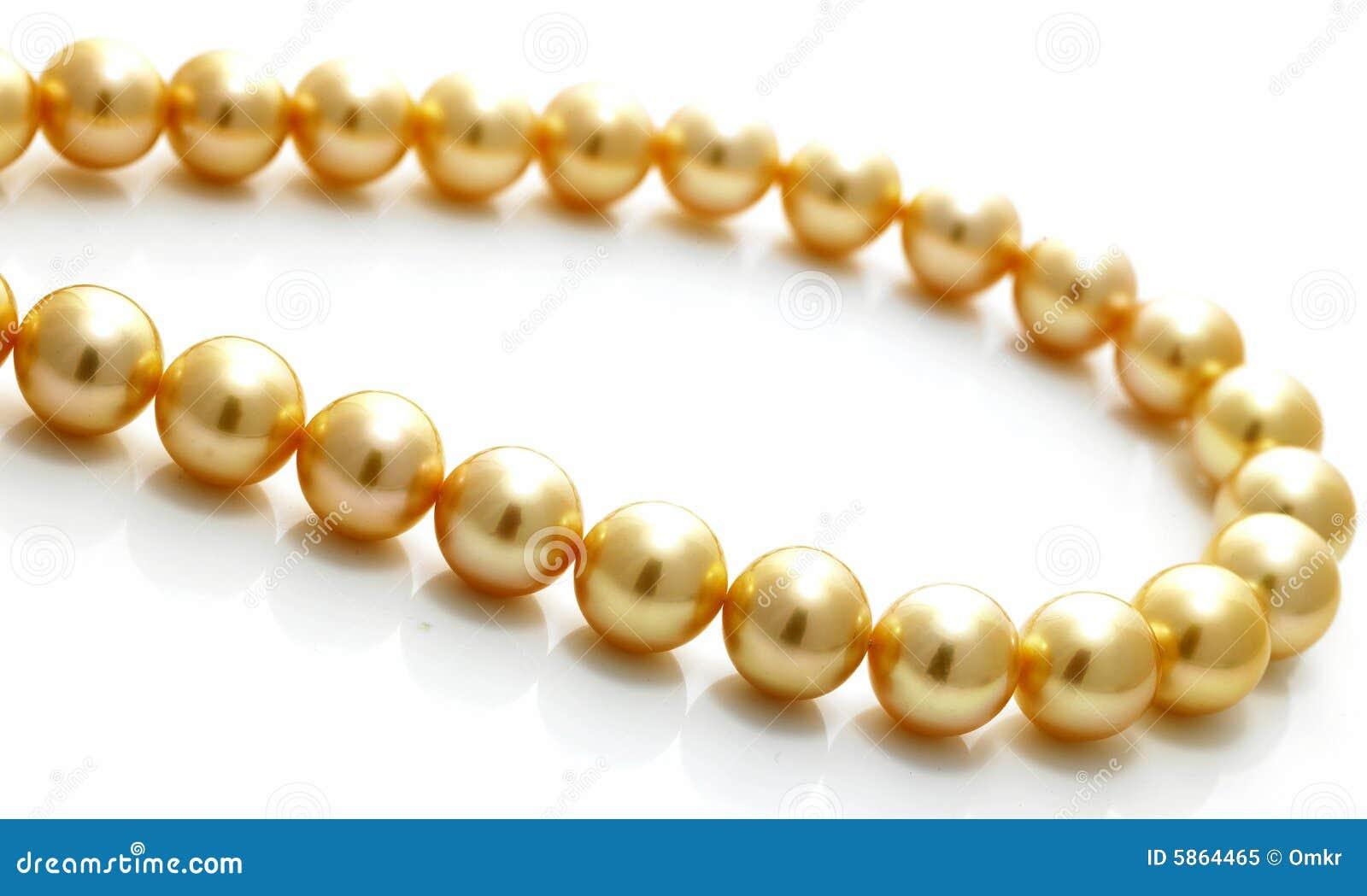 łańcuszkowa pearl złoto