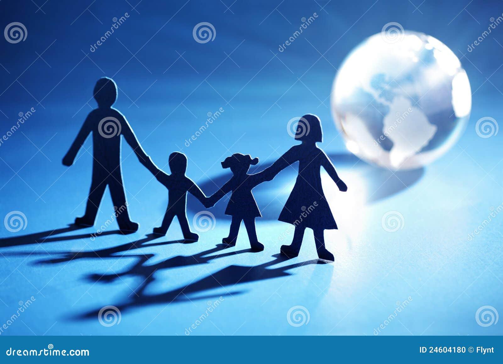 łańcuszkowy rodziny światła chodzenia papier w kierunku