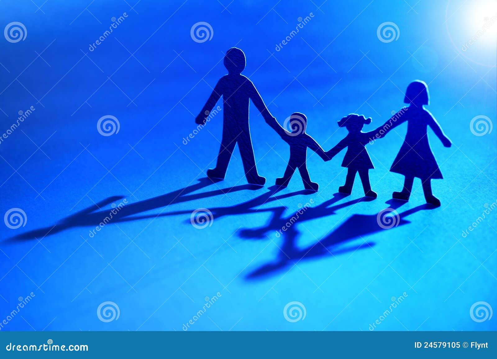 łańcuszkowy rodziny światła papier