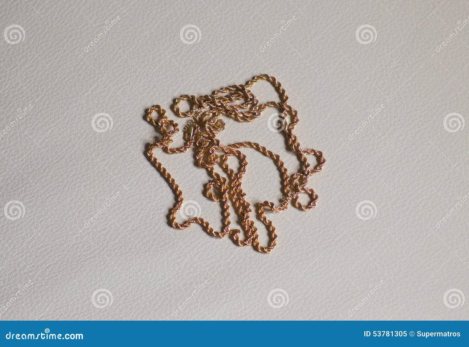 łańcuszkowy złoto