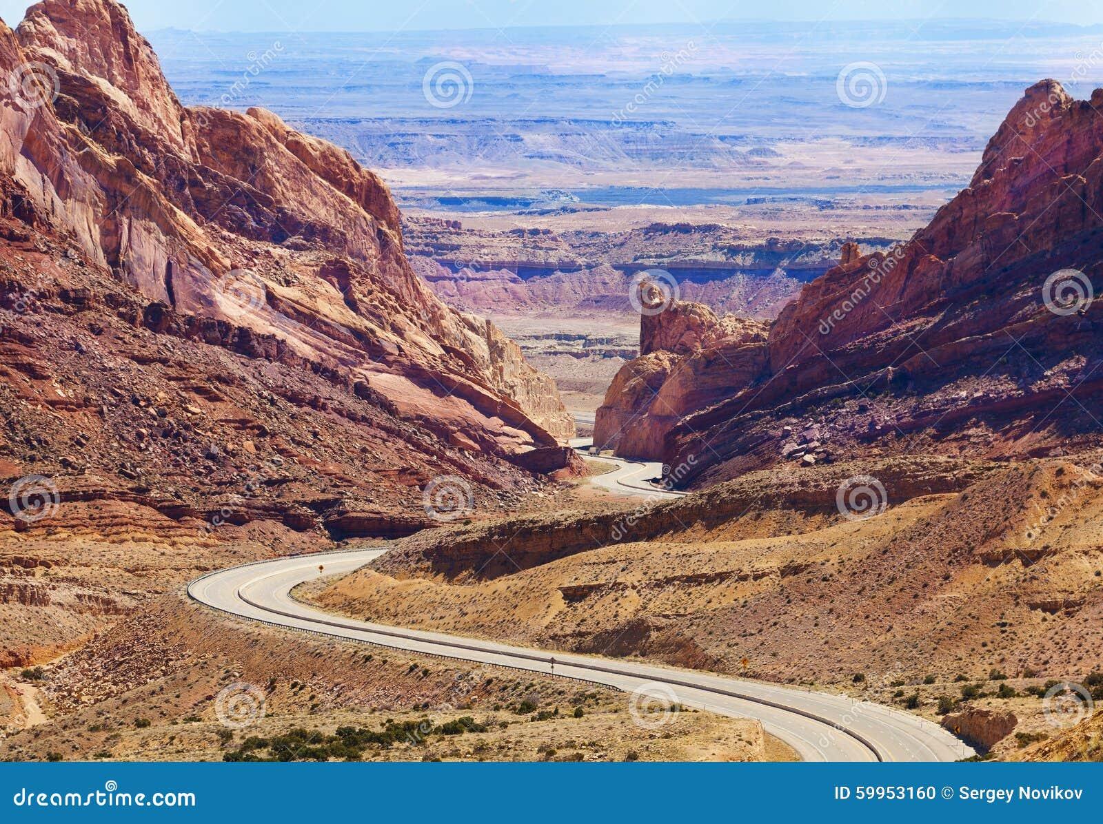Łaciasty Wilczy jar Utah, usa w wiośnie