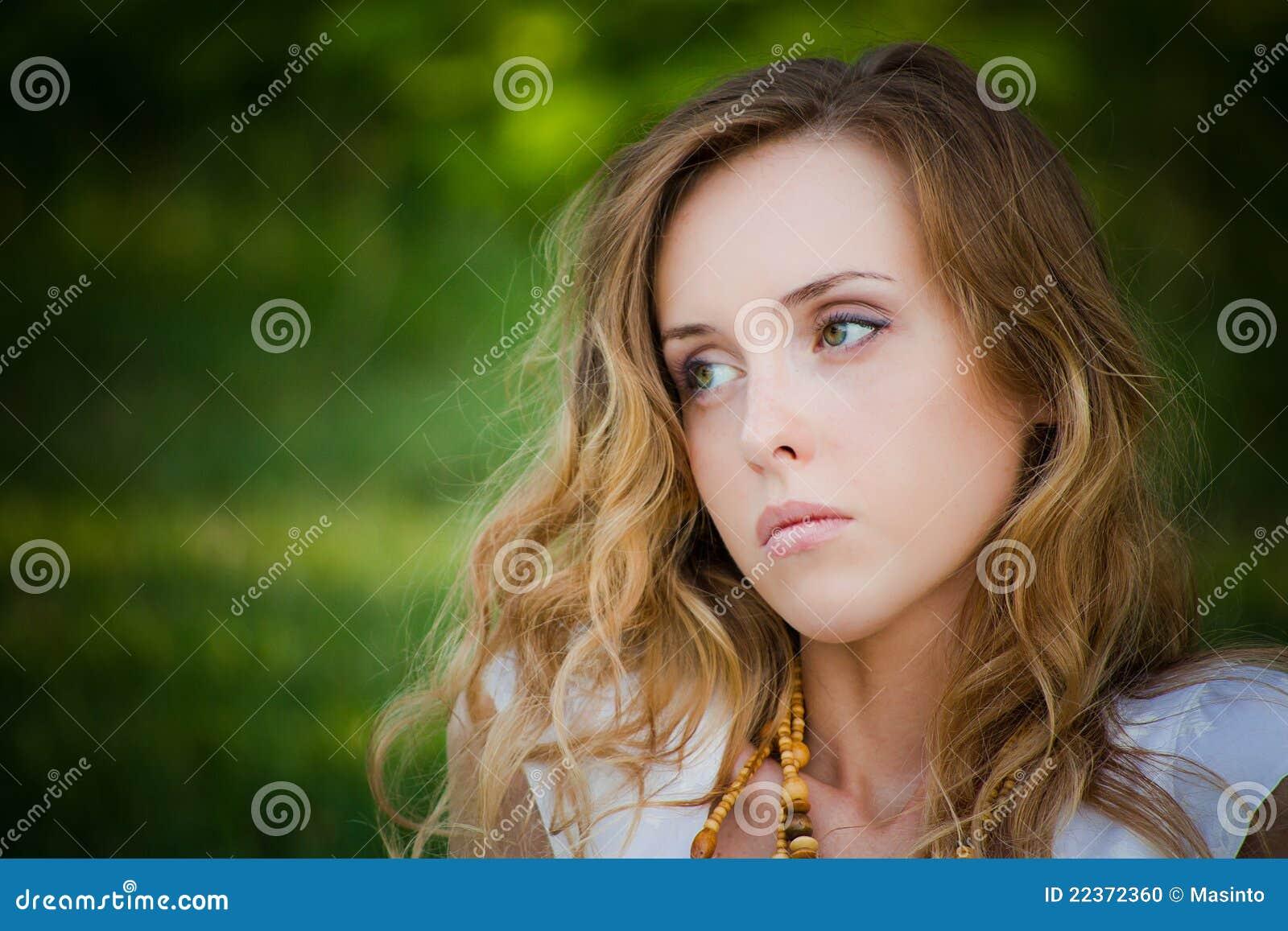 ładny dziewczyna portret