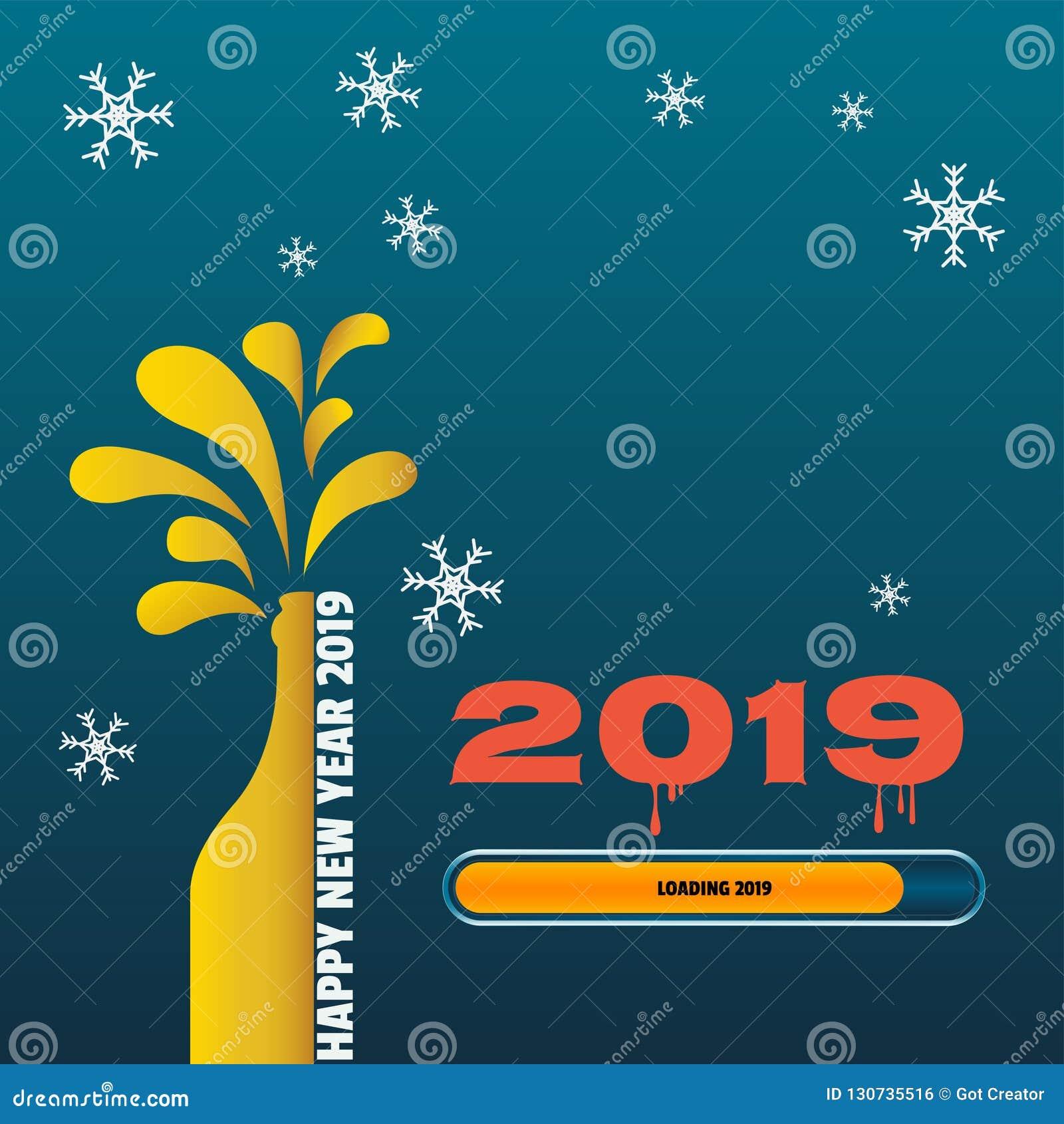 Ładowniczy Szczęśliwy nowy rok 2019