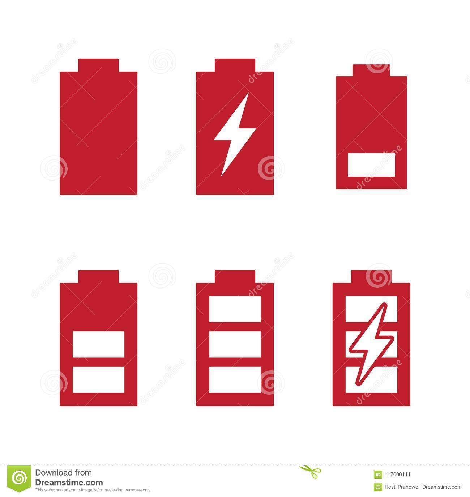 Ładuje poziomów wskaźników baterii ładuje ikony ustawiać i przeprowadza etapami