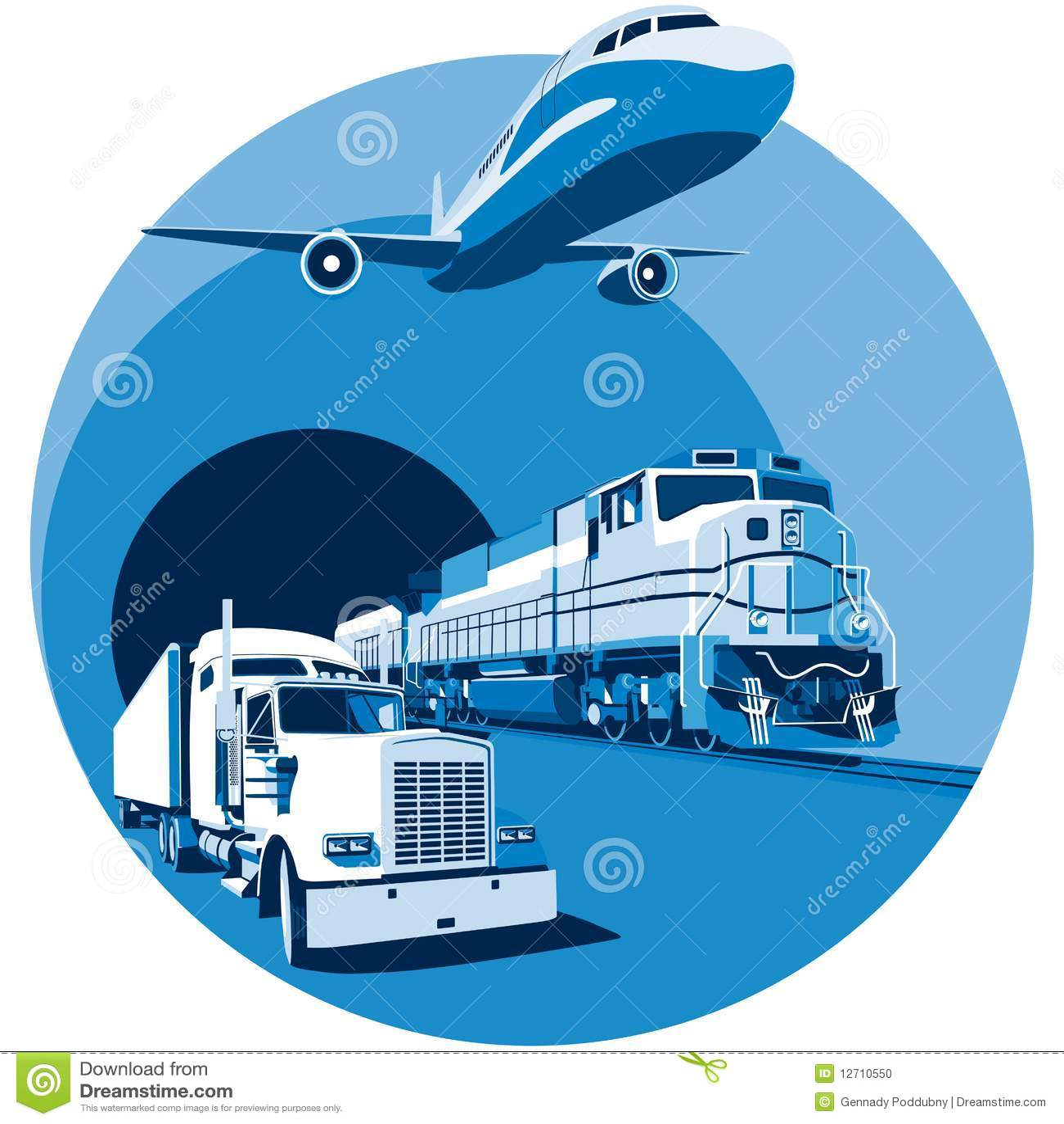 ładunku błękitny transport
