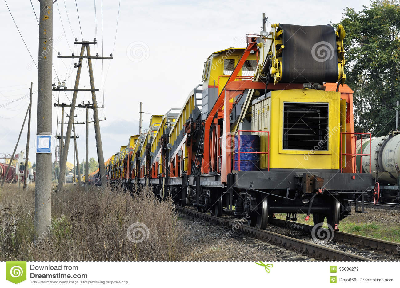 Ładunku pociągu pobyt na kolei