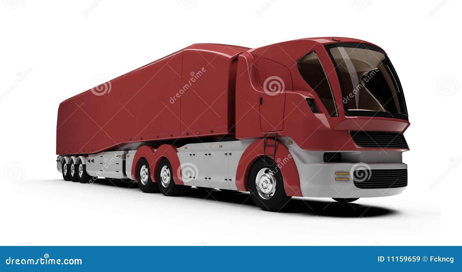 ładunku pojęcia przyszłość odizolowywający ciężarowy widok