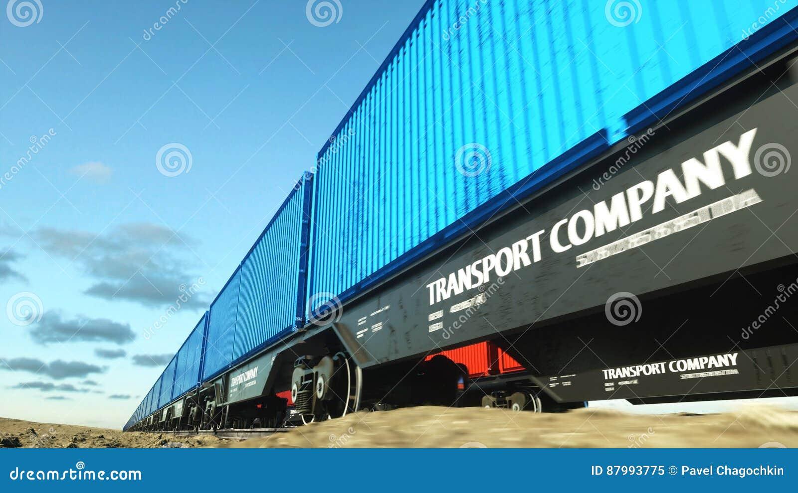 ładunku zbiorników pociąg towarowy Logystic pojęcie świadczenia 3 d