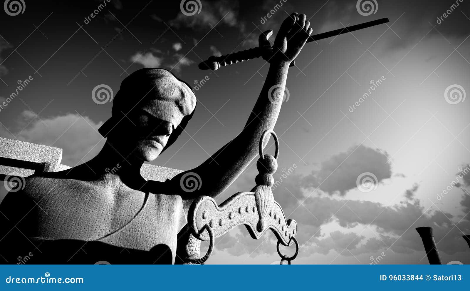 Łamana dama sprawiedliwości 3d rendering