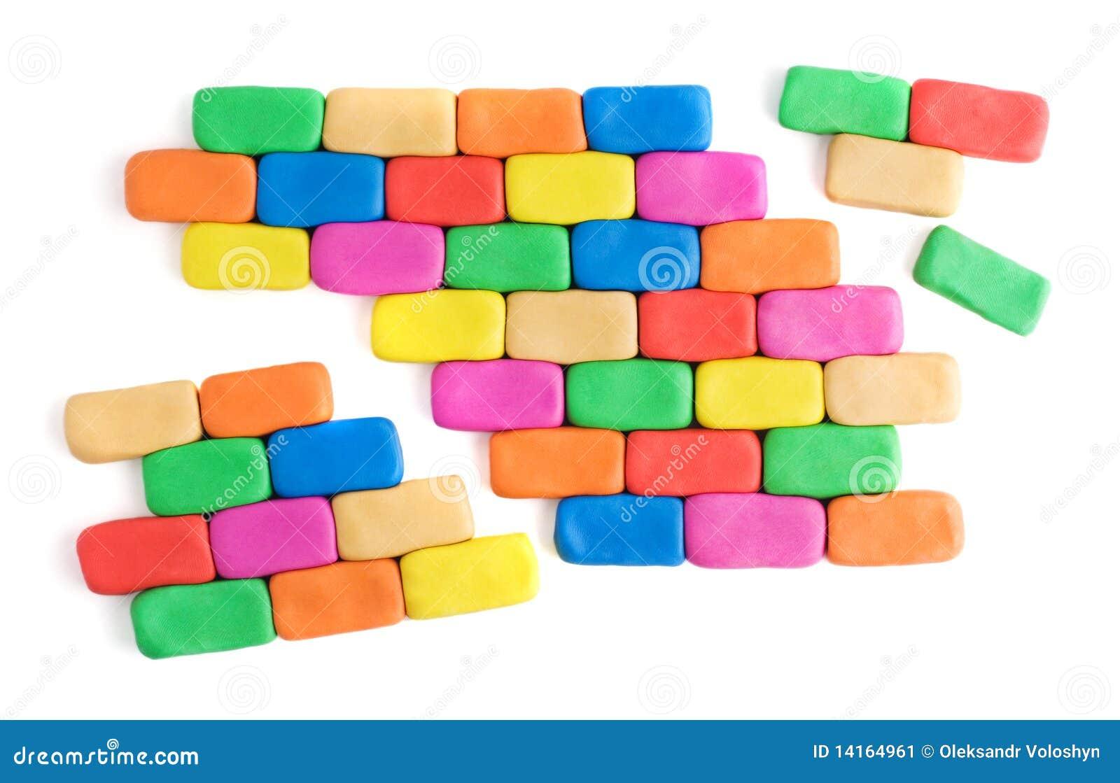 łamana kolorowa ściana