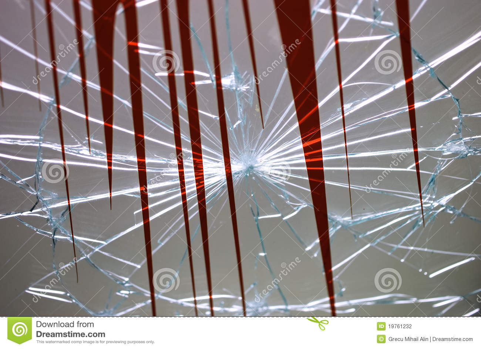 łamany szkło
