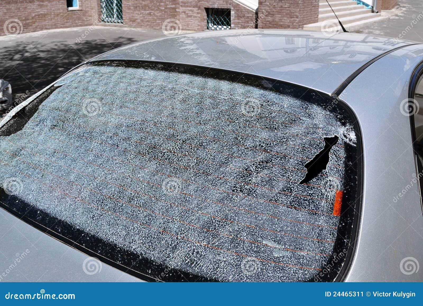 łamany tylni okno