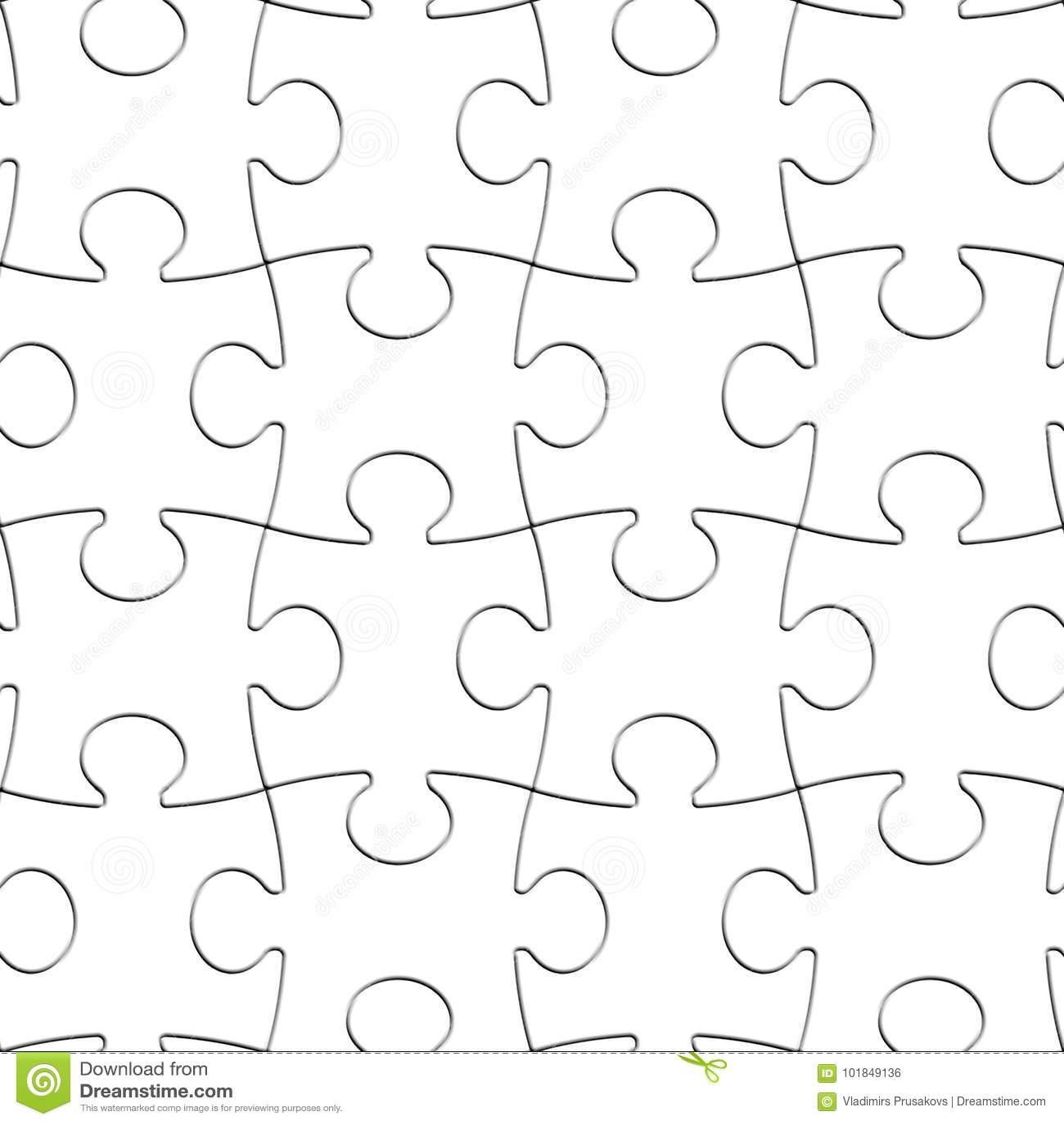 Łamigłówka biel Składa Bezszwowego tło, Pusty wyrzynarka wzór