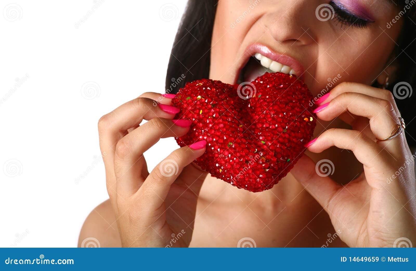 łasowania dziewczyny serce