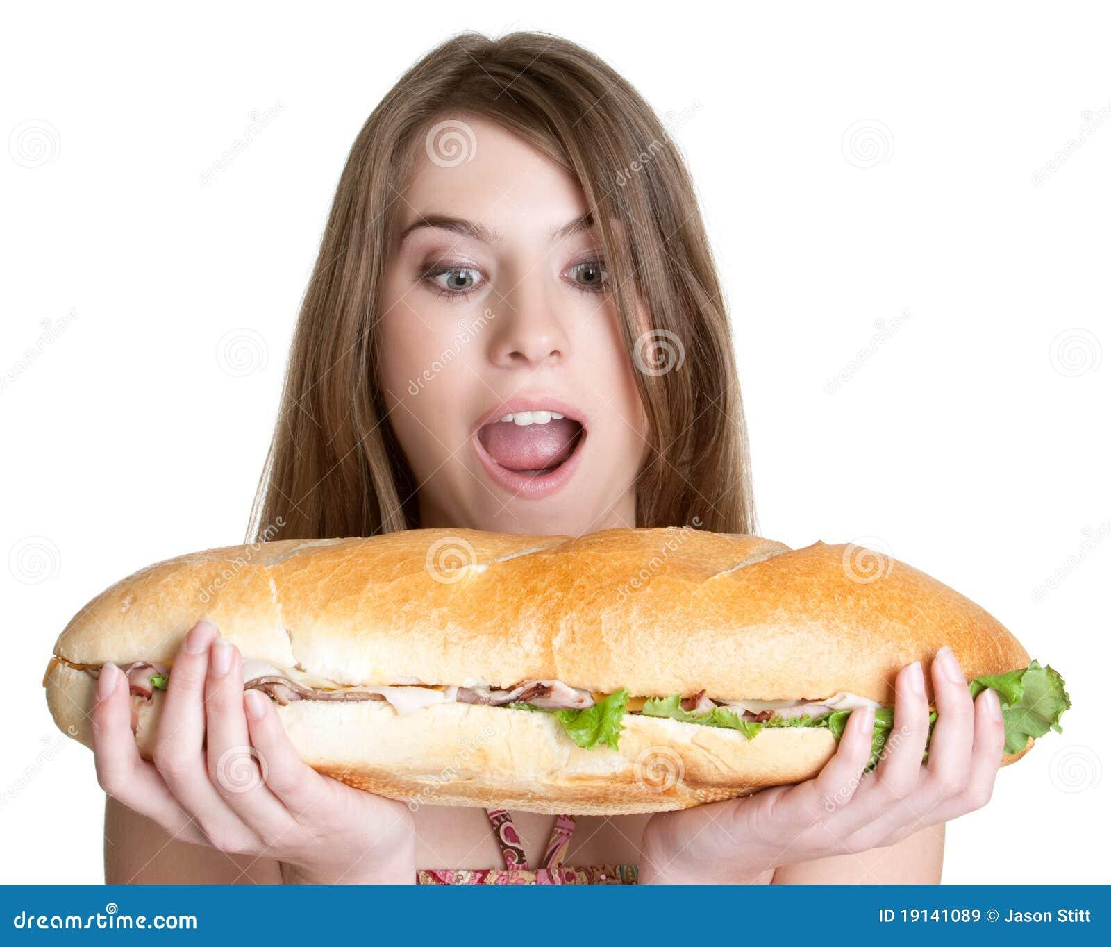 łasowania jedzenia dziewczyna