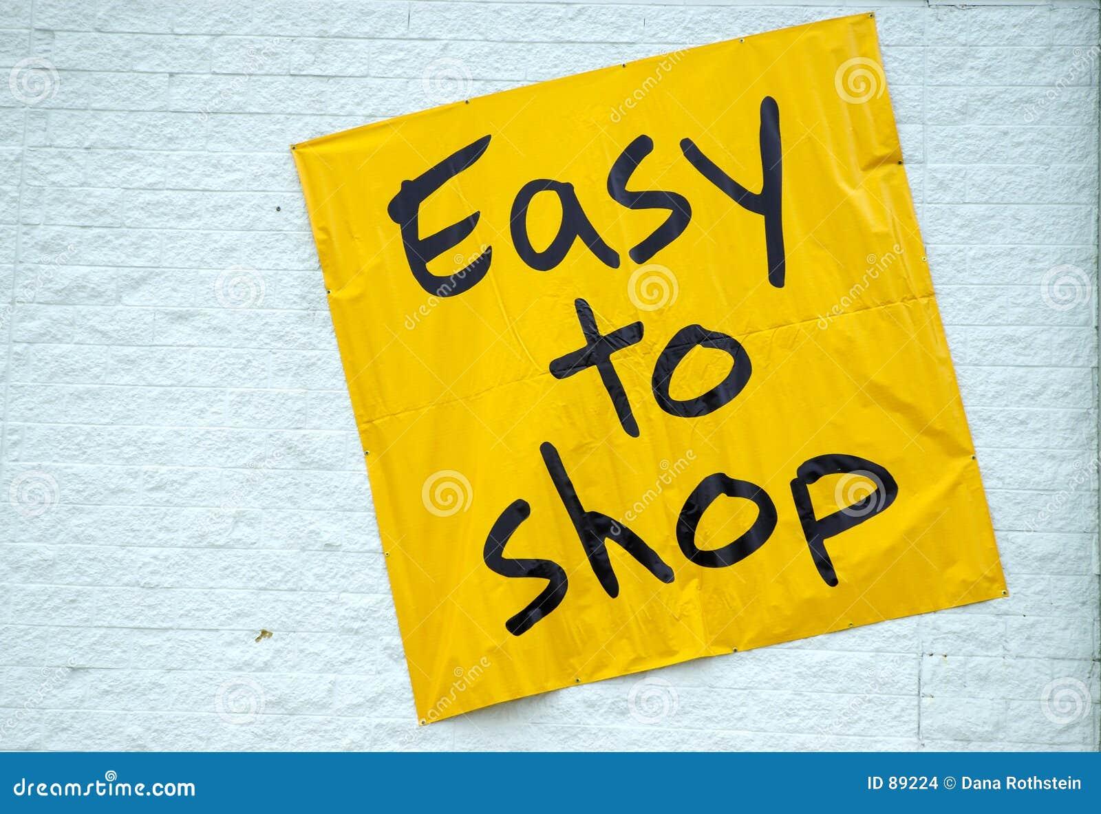 łatwe do sklepu
