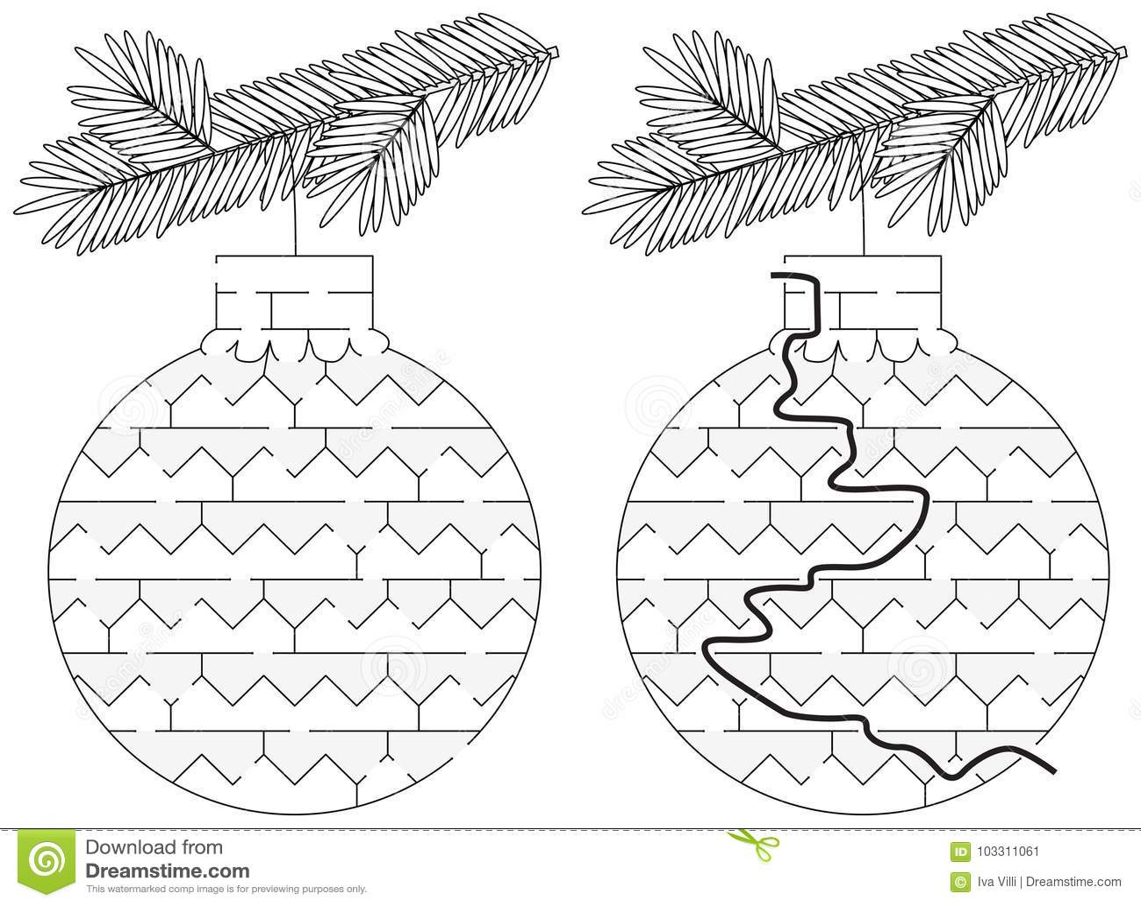 Łatwy boże narodzenie ornamentu labirynt