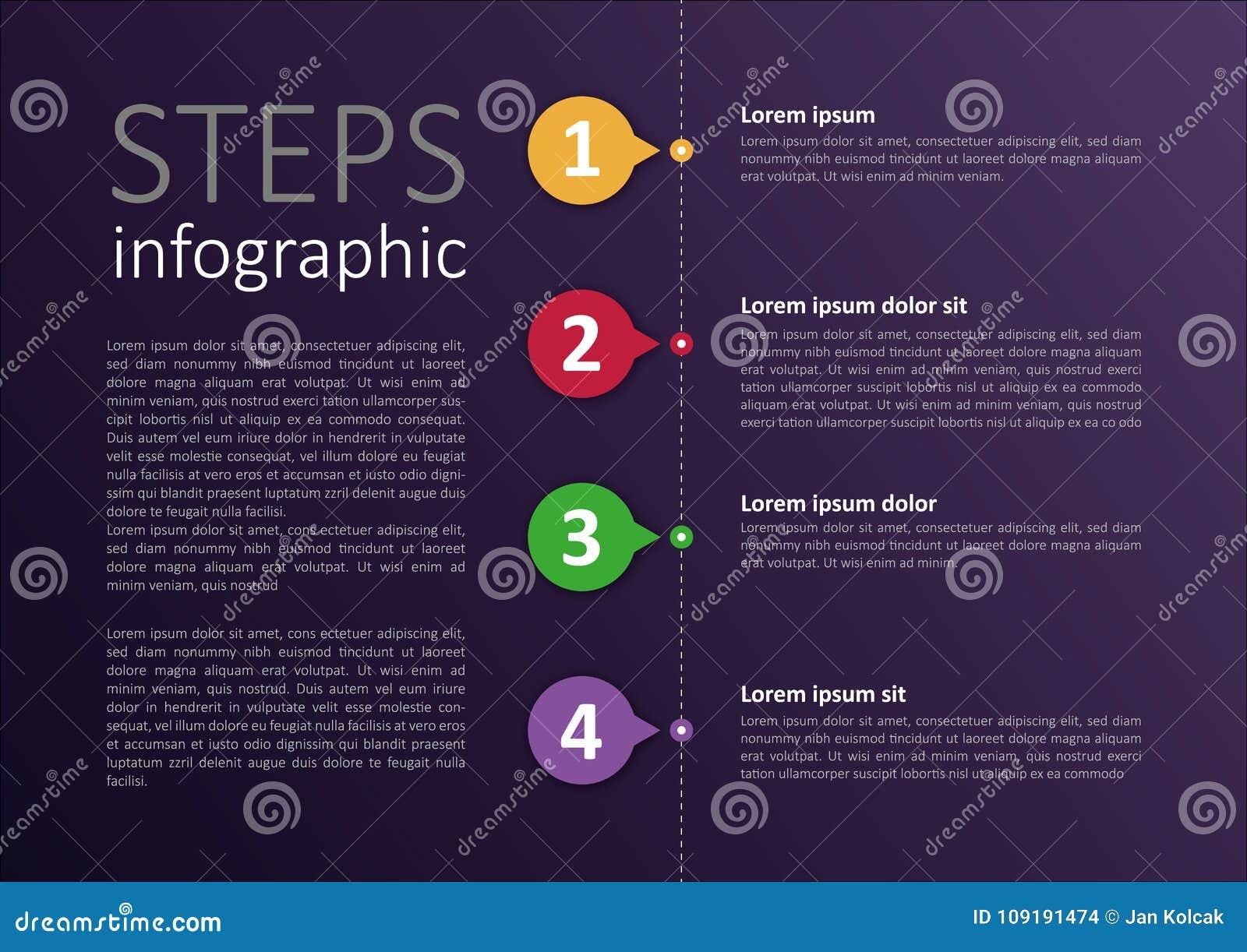 Łatwy zmodyfikowany infographic kroka projekt