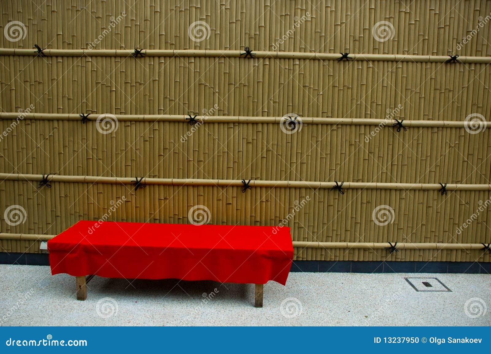 ławki bambusowa czerwień