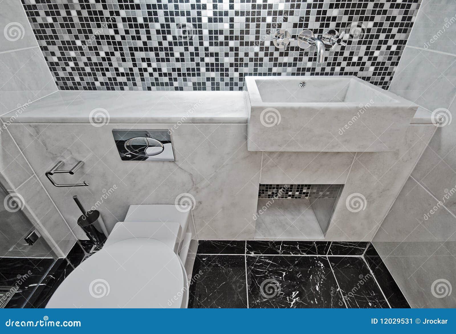 łazienki Marmurowe Mozaiki Płytki Obraz Stock Obraz