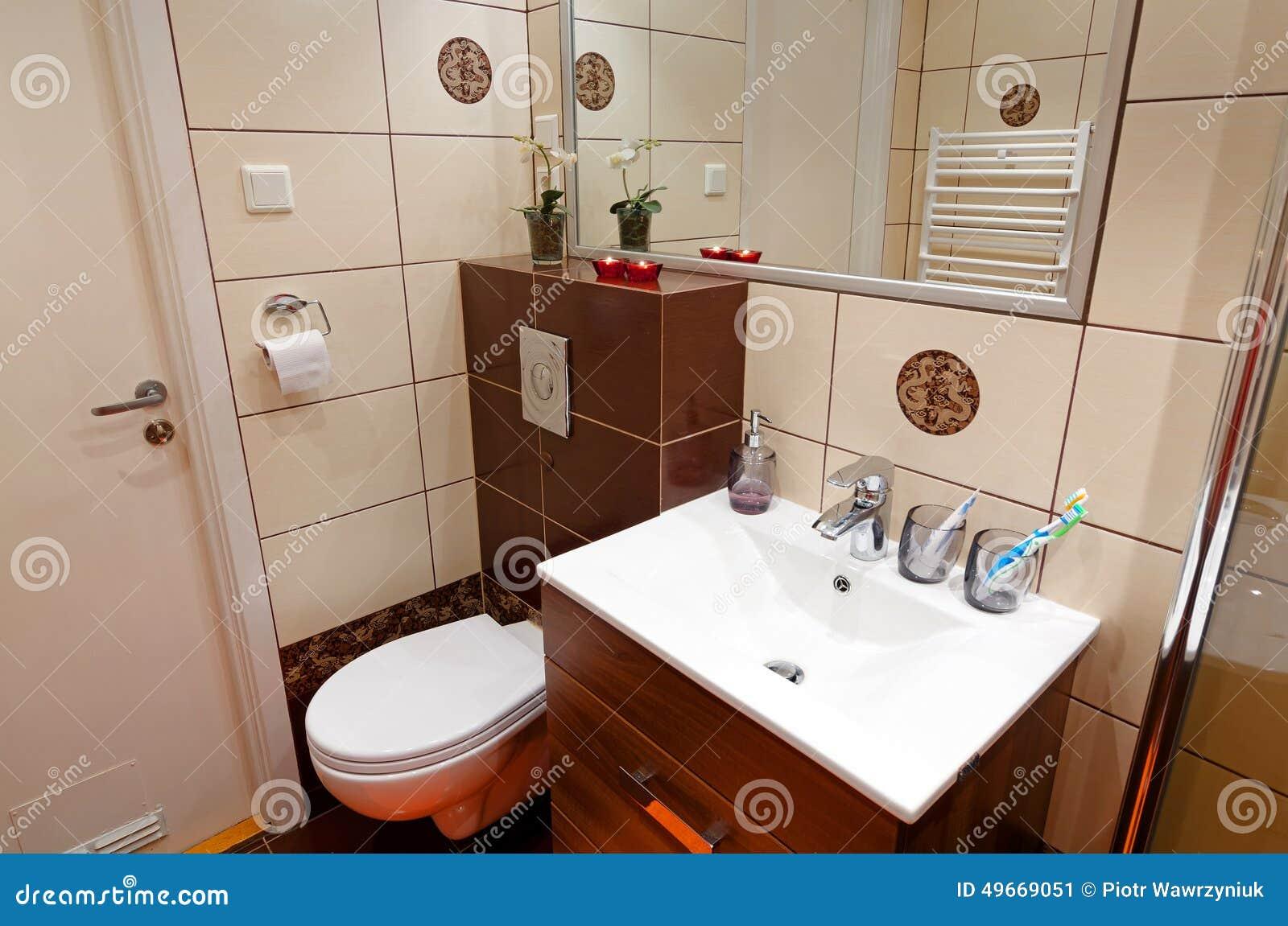 łazienki Toalety Kąt Obraz Stock Obraz Złożonej Z
