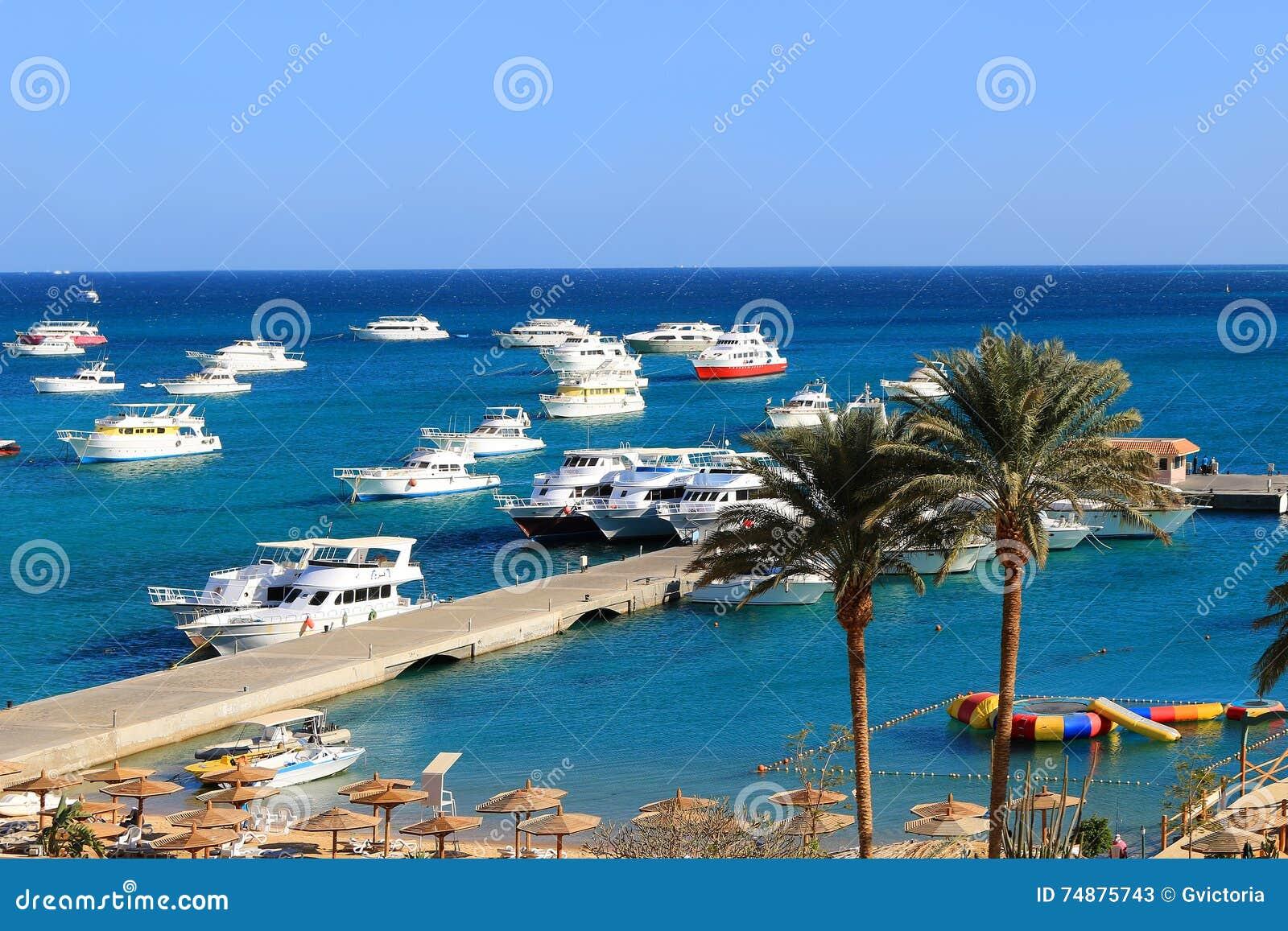 Łodzie przy Hurghada, Egipt