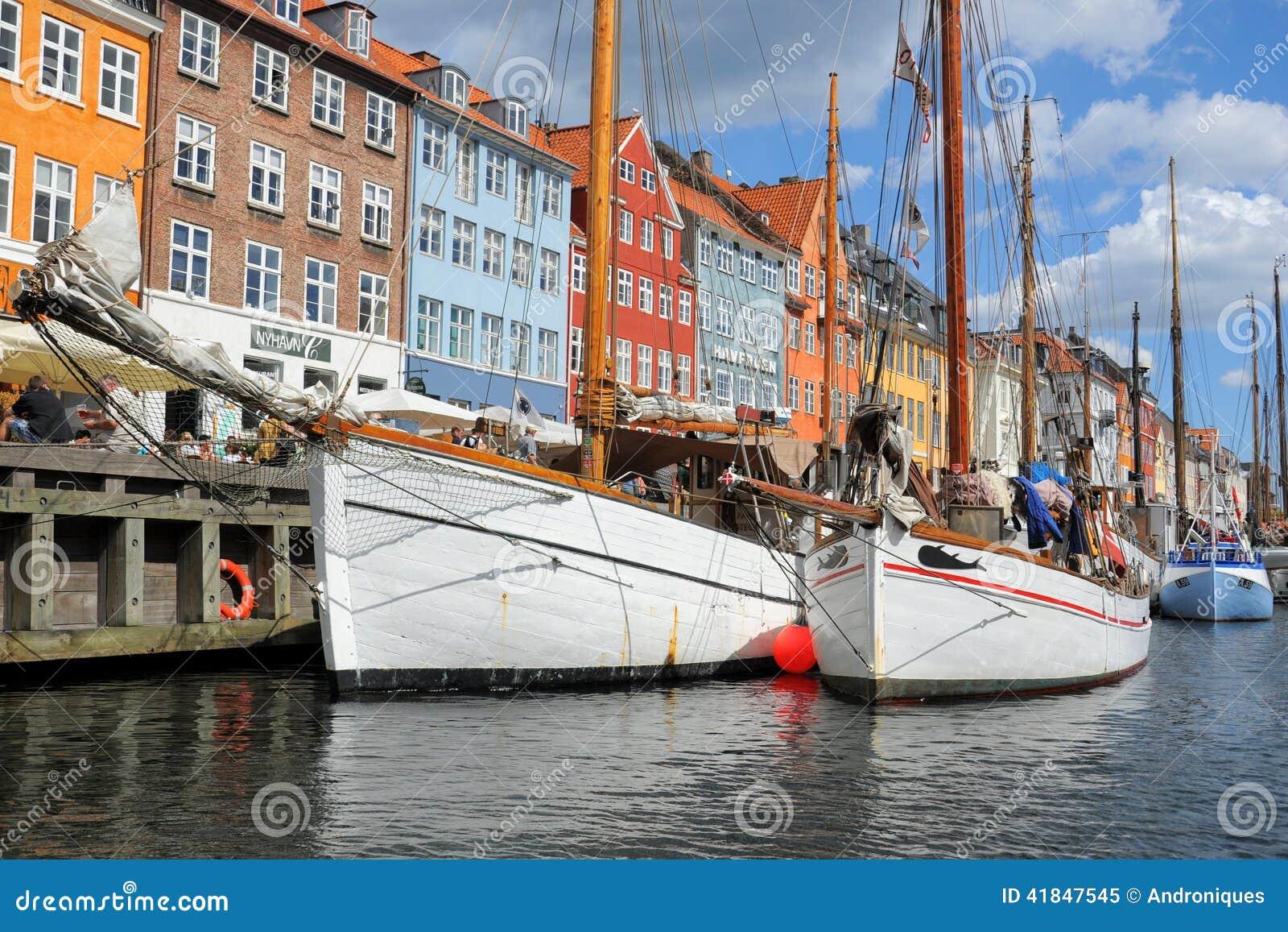 Łodzie w Kobenhavn, Kopenhaga, Dani