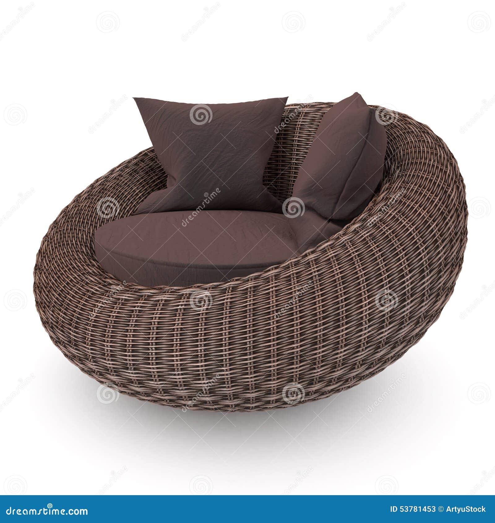 Łozinowy rattan krzesło