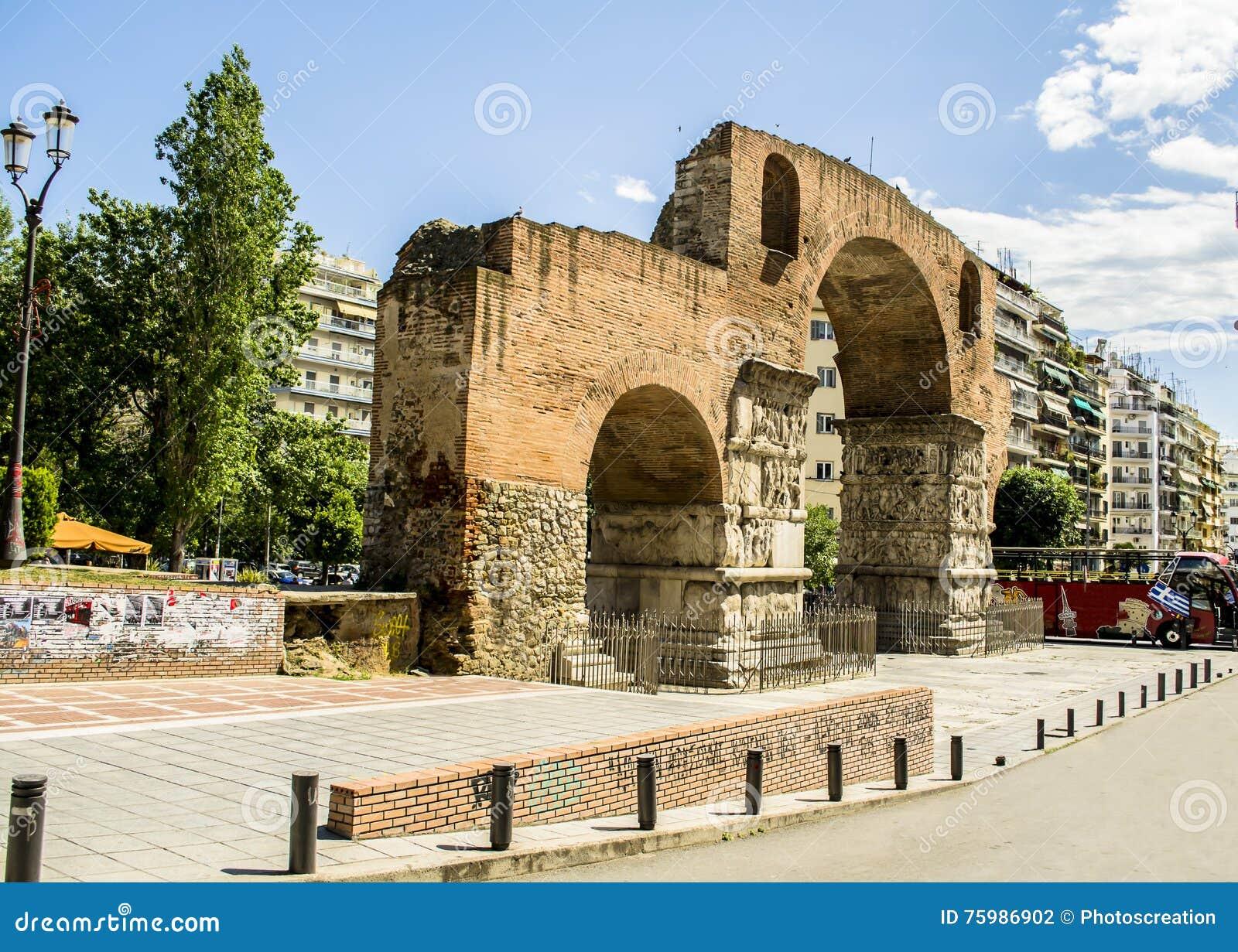 Łuk Galerius przy Saloniki miastem, Grecja