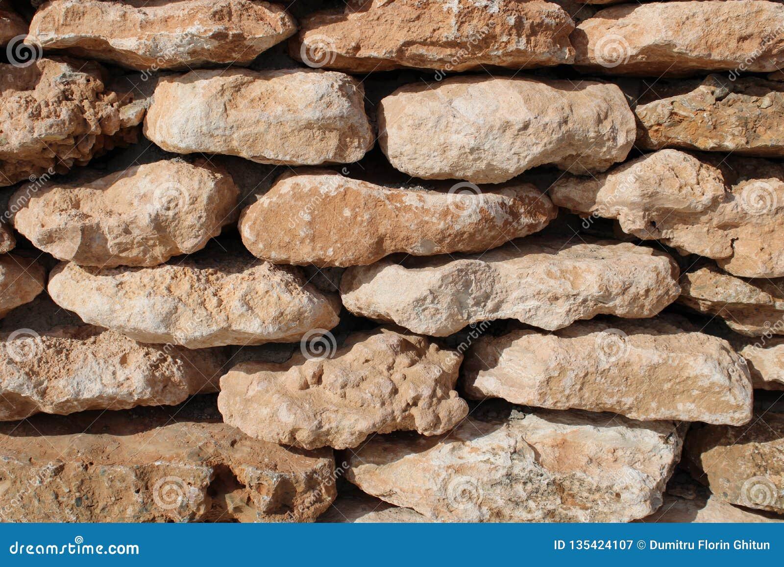 Ściana brown kamienie