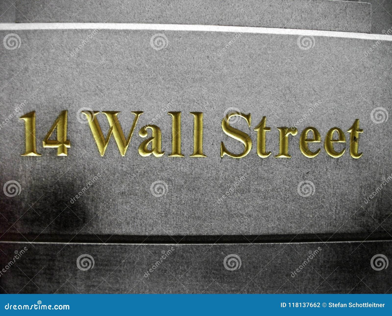 ścienni 14 ulicy liczby złoty pismo