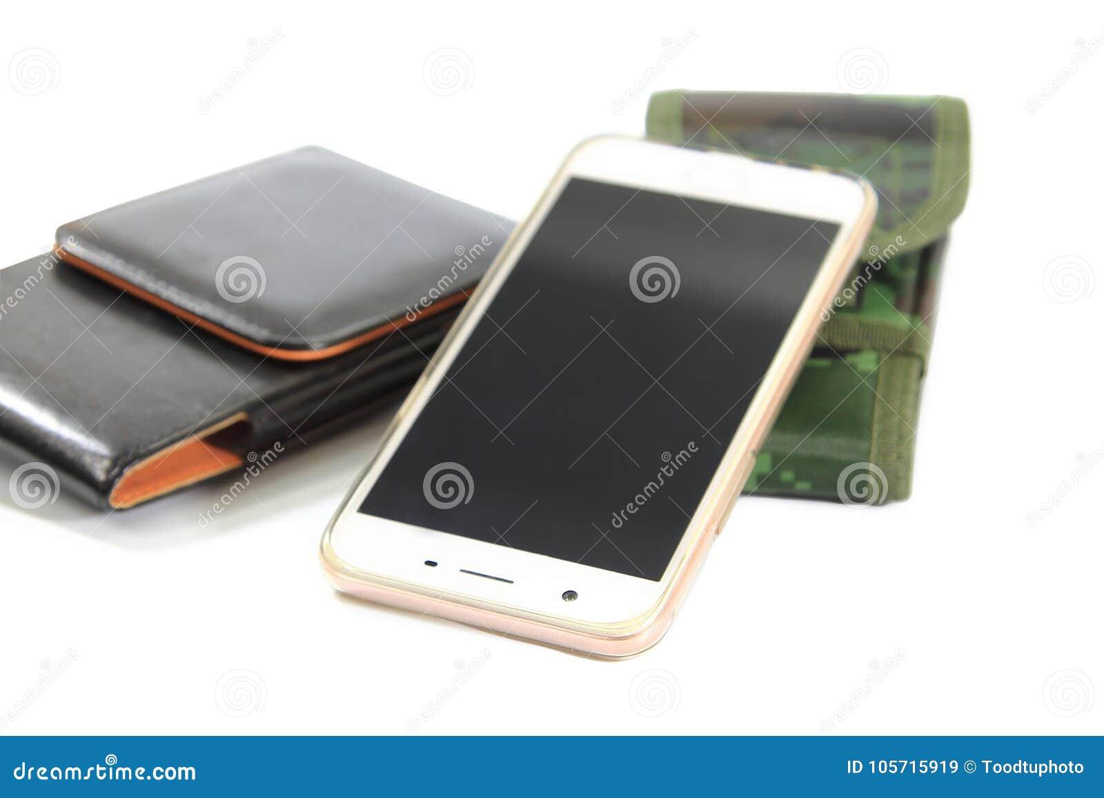 Ścinek ścieżki, smartphone, casing zielona tkanina