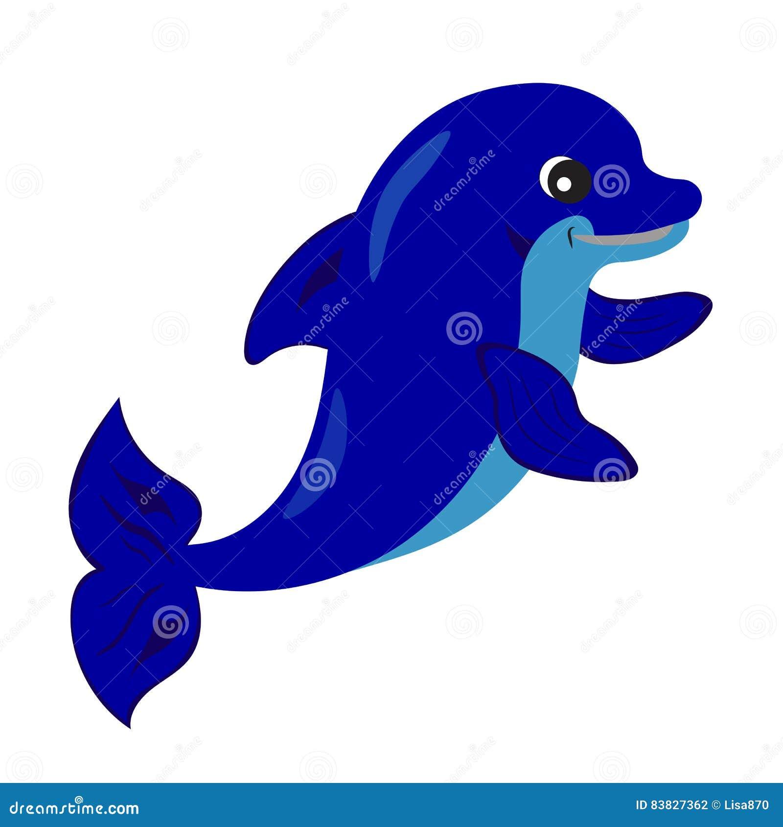 Śliczna delfin kreskówka