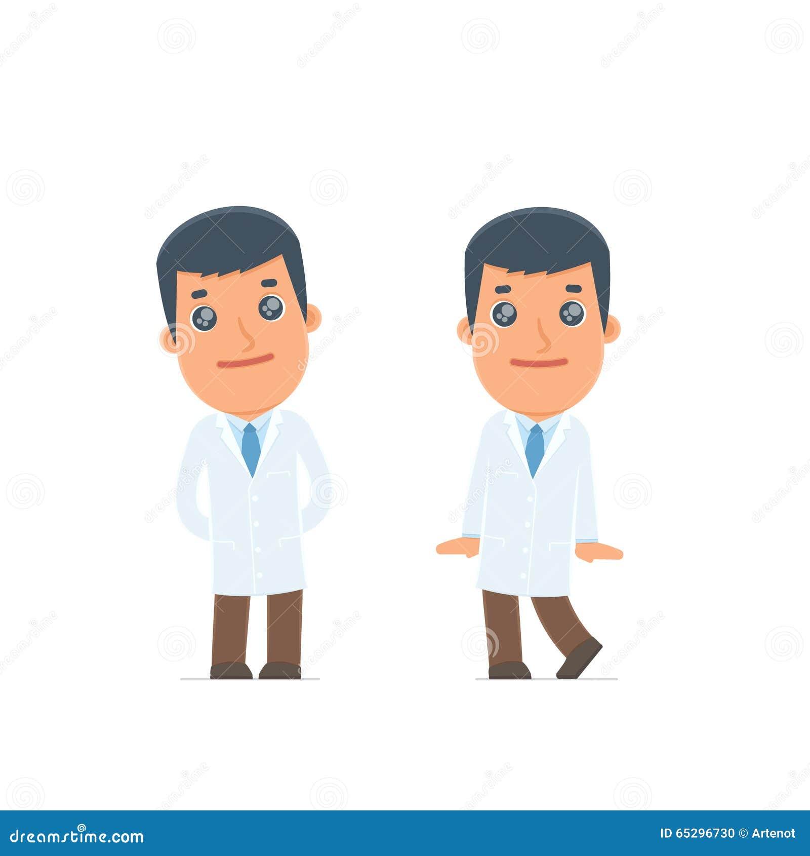 Śliczna i Czule charakter lekarka w pozach