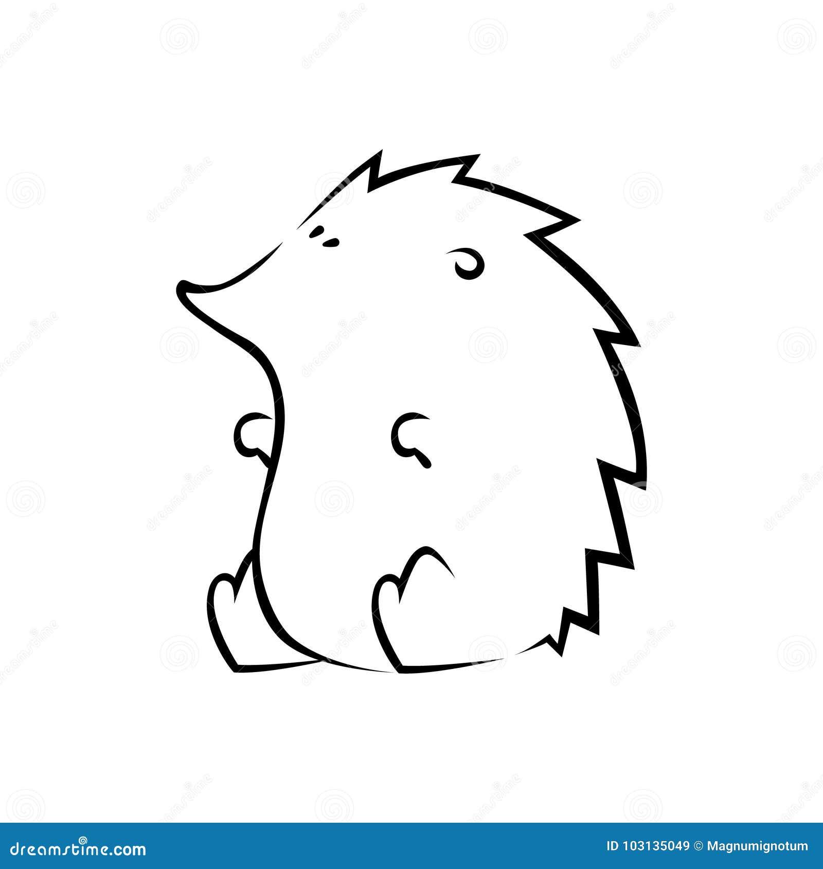 Sliczna Jez Sylwetka Ilustracja Wektor Ilustracja Zlozonej Z Zwierz 103135049