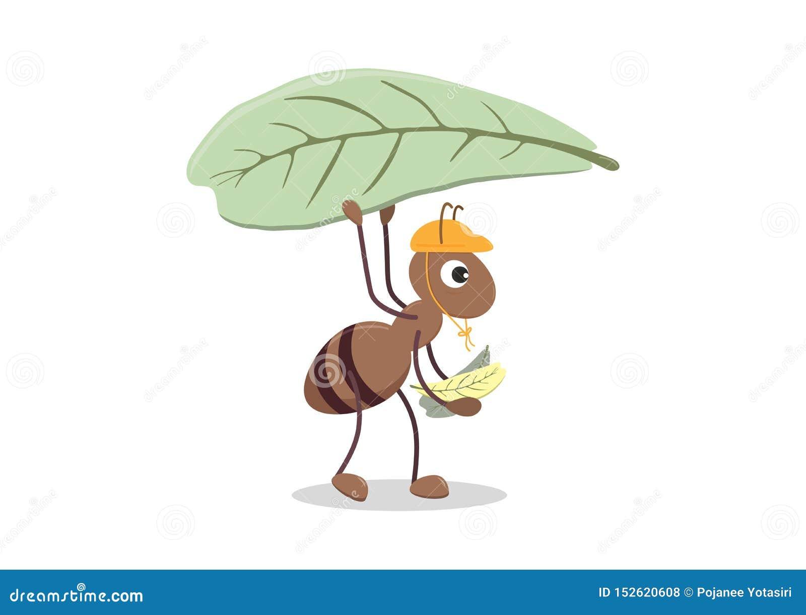 Śliczna postać z kreskówki mrówka