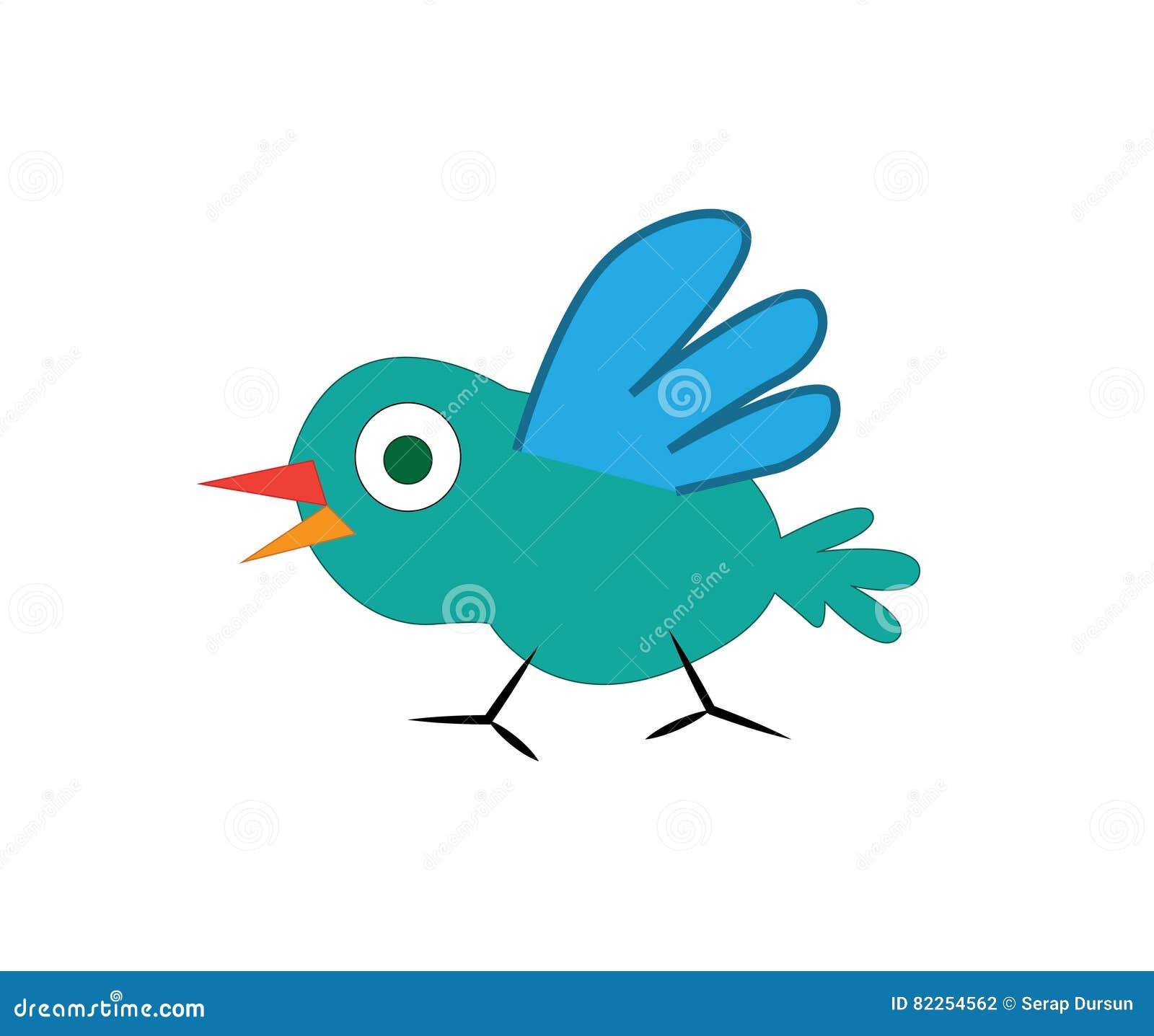 śliczna ptasia kreskówka
