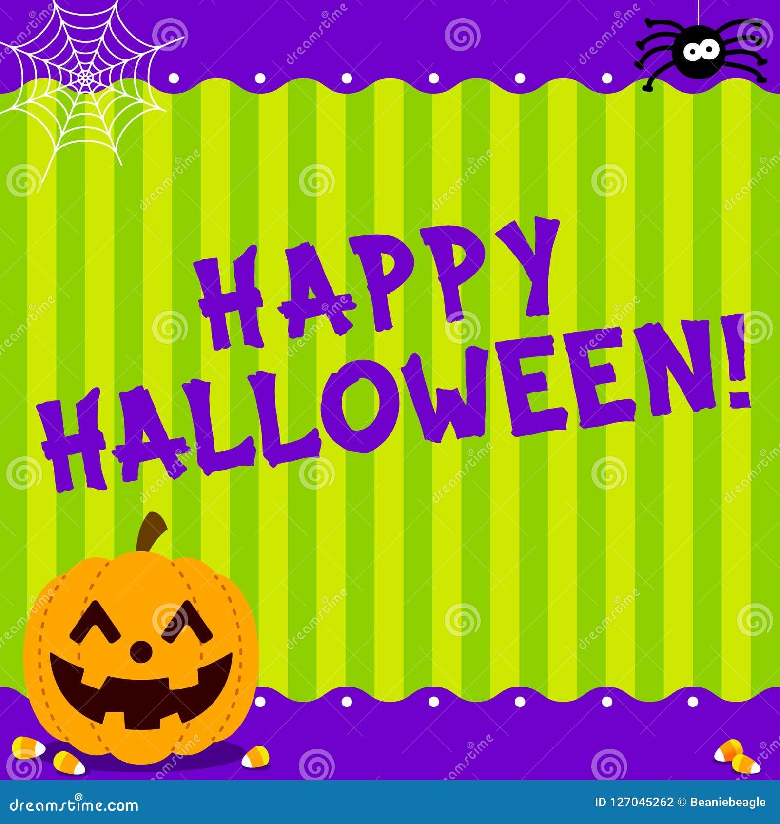 Śliczna Szczęśliwa Halloweenowa wiadomość