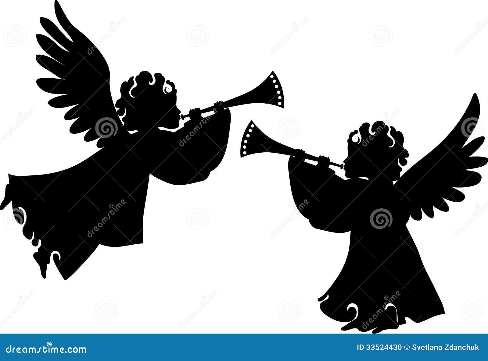 Śliczne anioł sylwetki ustawiać