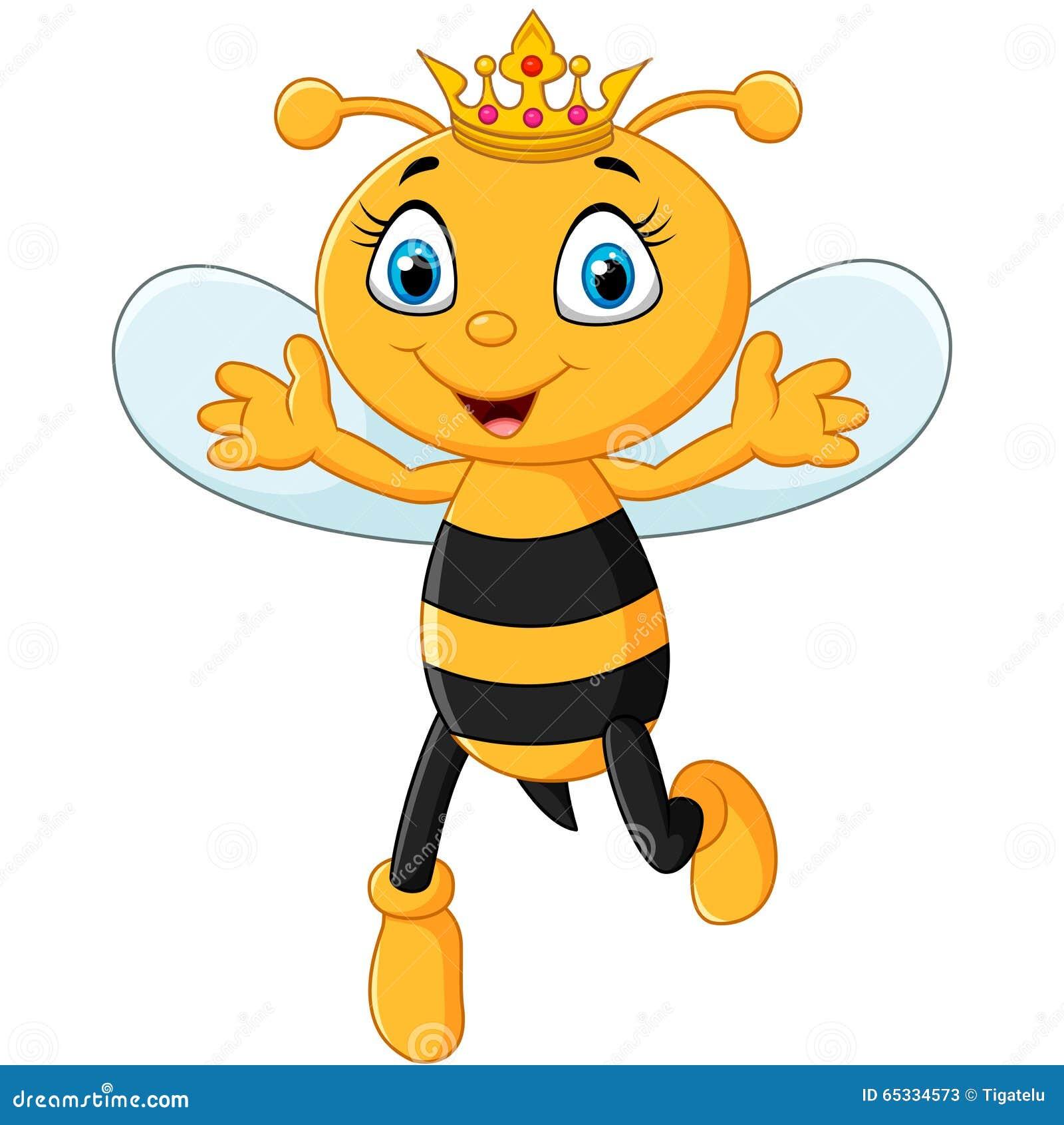 Ślicznej królowej pszczoły ręki up odosobniony na białym tle