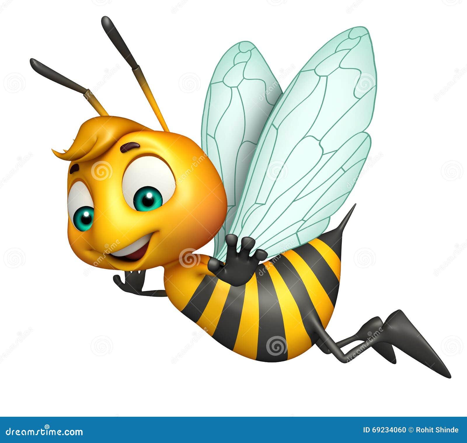 Ślicznej pszczoły śmieszny postać z kreskówki