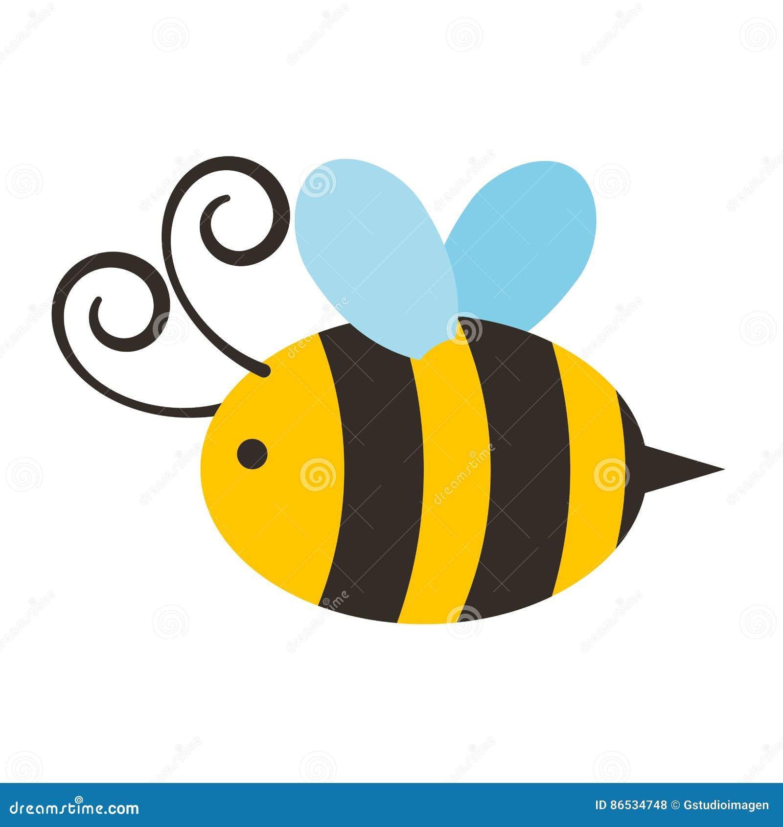Ślicznej pszczoły latająca ikona