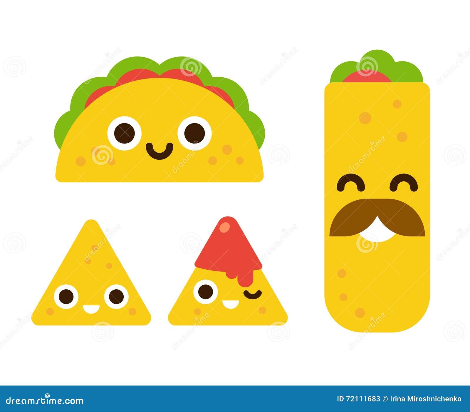 Śliczny meksykański jedzenie