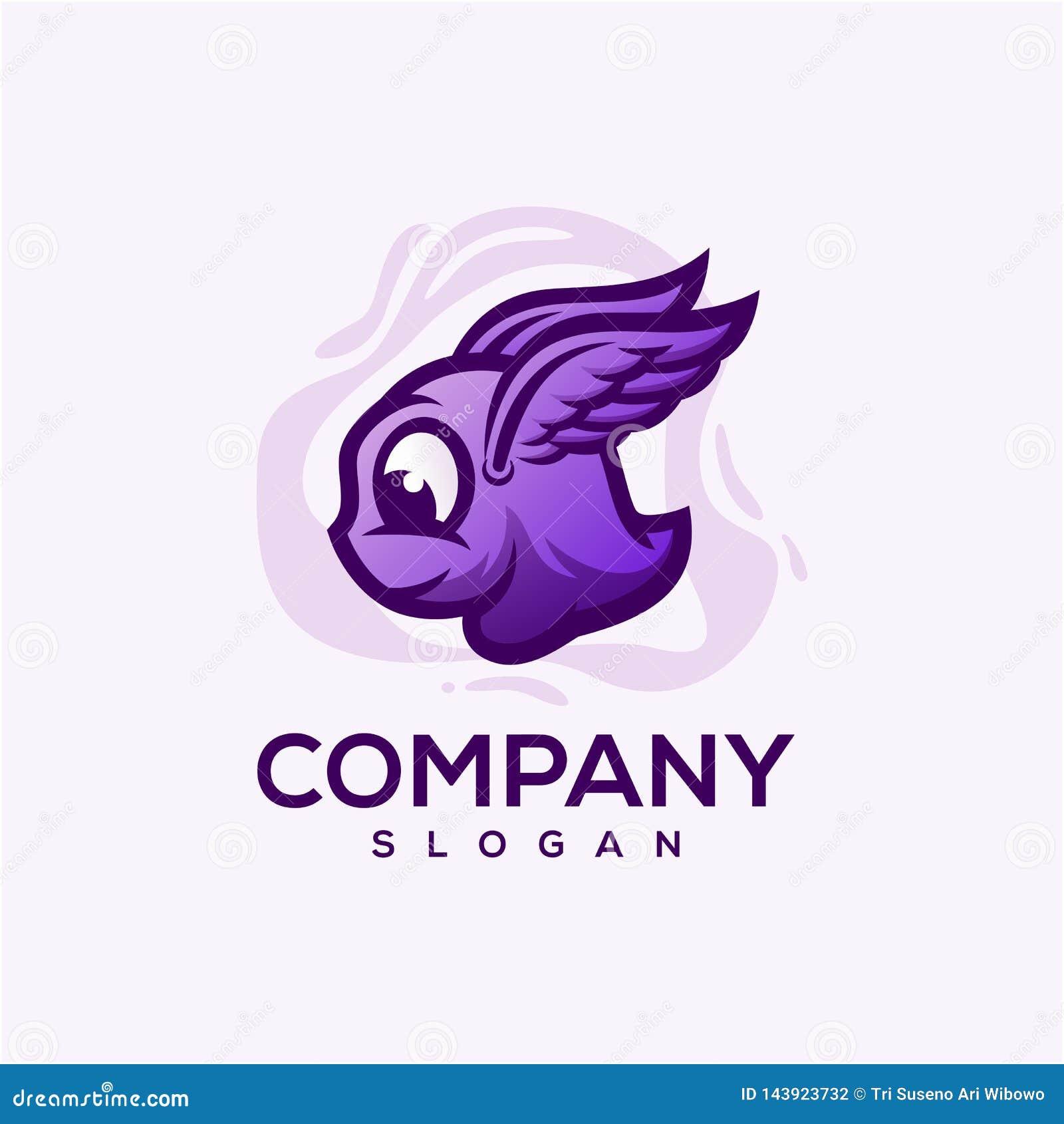 Śliczny potwora logo czytający używa